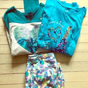 Justice Teal Mermaid Bundle Size 18/20